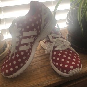 Adidas Torsion ZX Flux , Red & White polka dots